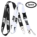 Lanyard Keychain Holder Keychain Key Chain Black Lanyard Clip with Webbing Strap (2pack/A)