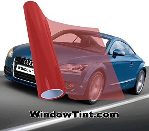 Red Window Tint >> Red 35 Vlt Auto Window Tinting Film 20 Inch Wide X 10 Feet Long Roll