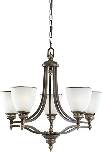 Sea Gull Lighting 31350-708 Laurel Leaf Five Light Chandelier, One, Estate Bronze Finish