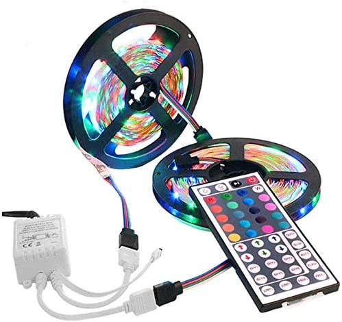 Amazon Com Led Strip Lights 600 Led Strip Light String Tape 44 Key Ir Remote Control Supply For Tv Room Kitchen Party Decoration Bedroom Led Strip Lights Home Improvement