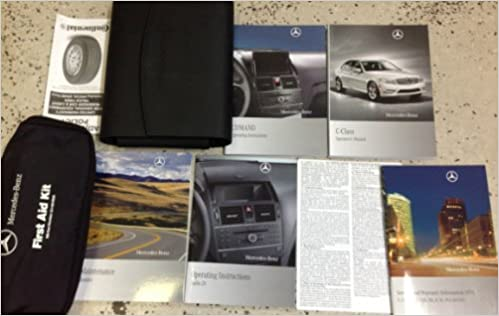 2011 MERCEDES BENZ C CLASS 250 300 63 Owners Manual SET W BENZ FIRST AID KIT OEM