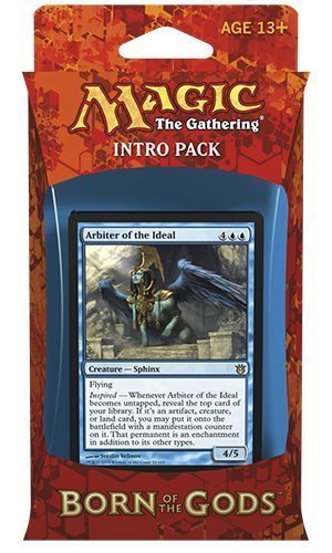 Magic the Gathering (MTG) Born of the Gods Intro Pack - Arbiter of the Ideal - Blue (Includes 2 Booster Packs)
