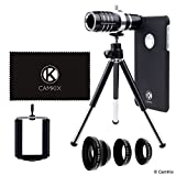 Lens Kit for Apple iPhone 7 (not suitable for iPhone 7 Plus) - 12x Telephoto Lens, Fisheye Lens, Macro Lens, Wide Angle Lens, Tripod, Phone Holder, Lens Holder Ring, Hard Case, Bag and Cleaning Cloth