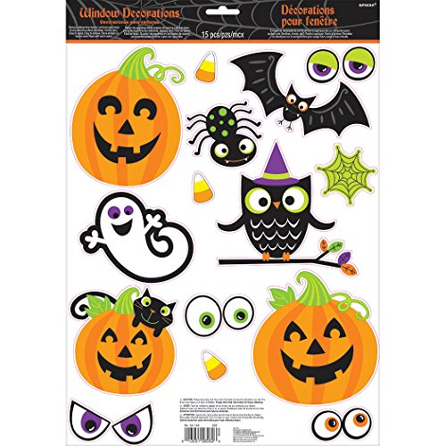 Family Friendly Halloween Window Cling by Amscan