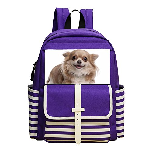 Kids Backpacks Student School Bookbag cute dog Children Backpack Water Resistant Backpack Purple (Park Tavern Halloween)