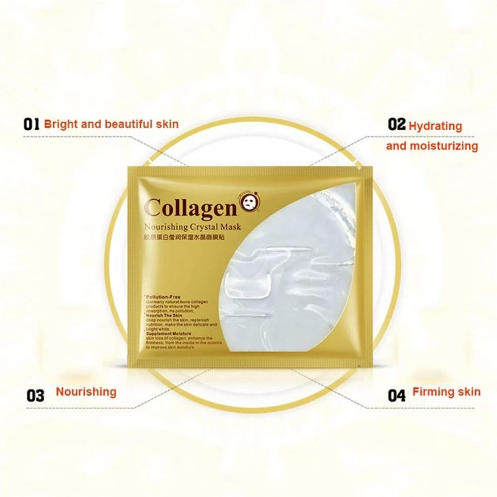 Amazon.com : Yiitay Collagen Crystal Face Mask, Face Mask Sheet Mask Anti Ageing, Hydrating, Moisturizing Facial Mask 1Pcs : Beauty