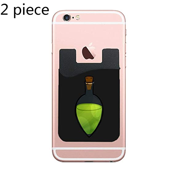 4764e6af863 Amazon.com: Two Potion Cell Phone Stick On Wallet Card Holder Phone ...