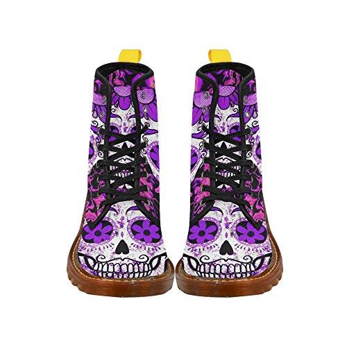 LEINTEREST Fractal Skull pink Martin Boots Fashion Shoes For Women aQ4UcrDL6m
