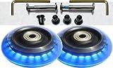 Camelian Luggage Lighted Wheel Set - Blue Color Lights -76x24mm Wheel Size