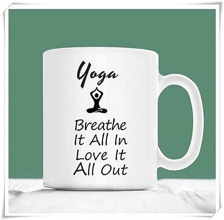 WYYCLD - Yoga Coffee Mug, Yoga Breathe It All In Love It All ...