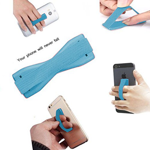 ONX3 (Baby Blue) Intex Aqua Costa Universal Anti-Slip Elastic Finger Mobile Phone Grip Holder With Strong - Baby Costas