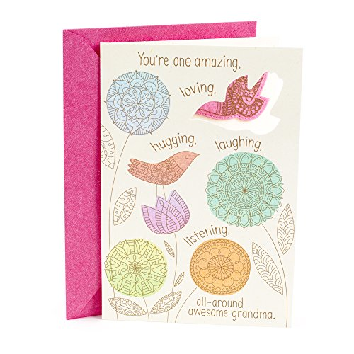 Hallmark Mother's Day Greeting Card for Grandma (Felt Bird Magnet)