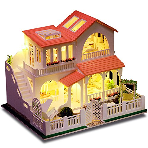 Amazon Com Rylai 3d Puzzles Wooden Handmade Miniature Dollhouse Diy