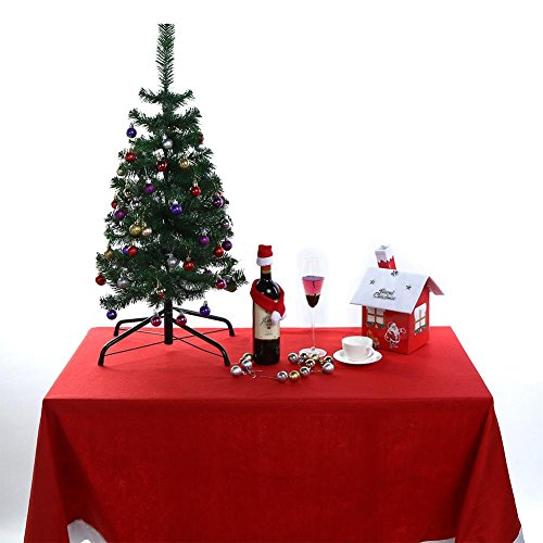Price comparison product image Whitelotous Christmas Table Cloth Placements Home Decor for Party Banquet Home Christmas Atmosphere 83.46x53.54inches