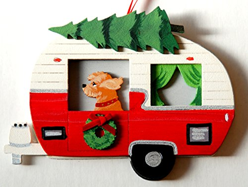 Dandy-Design-Goldendoodle-Dog-Vintage-Camper-Trailer-Wooden-Hand-Painted-3-Dimensional-Christmas-Ornament-USA-Made