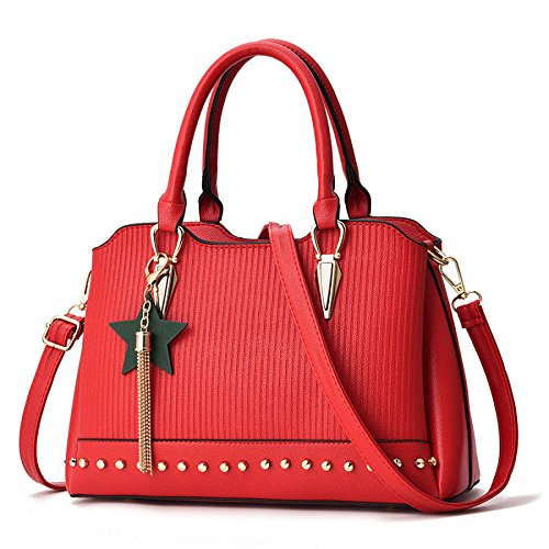 Sac BAILIANG Pendentif PU Shoulder à Mode Main Red Womens Bag COxwqt1faO
