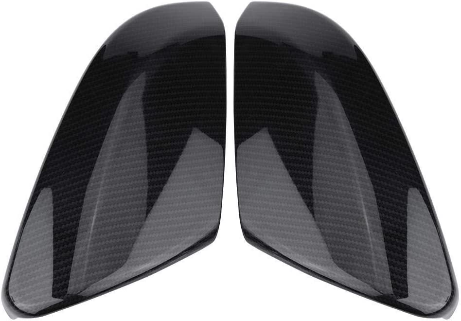 2X Rear Carbon Fiber Style Rearview Mirror Cover Caps Compatible with Honda Civic Sedan Coupe 2016-2019 Rearview mirror cover trim