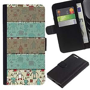 KingStore / Leather Etui en cuir / Apple Iphone 6 PLUS 5.5 / Patrón Gris Regalo de Navidad de invierno