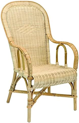 Adult Rattan High Back Chair Amazon Co Uk Kitchen Home