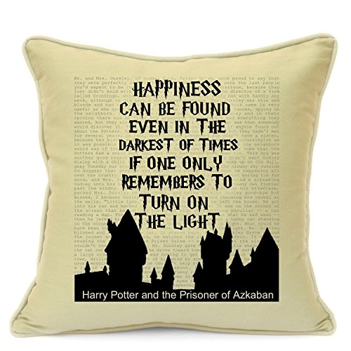 Hagrid Costume Uk (Presents Gifts For Teens Kids Boys Girls Harry Potter Lovers Fans Birthday Christmas Xmas Vintage Happiness Can Be Found Even In Darkest Of Times Cushion Cover 18 Inch 45 Cm)