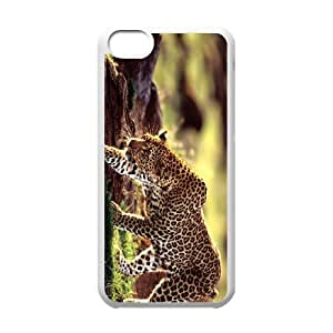 Iphone 5C The plum flower leopard Phone Back Case Use Your Own Photo Art Print Design Hard Shell Protection DF012527