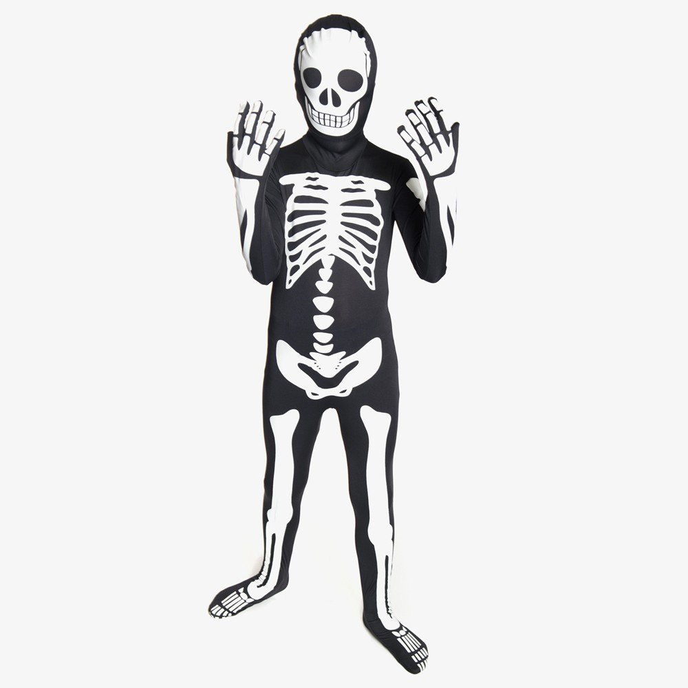 Fits most ages 8-10 - 311-45 Glow Alien Kids Morphsuit Costume Size Morphsuits KPALM Medium