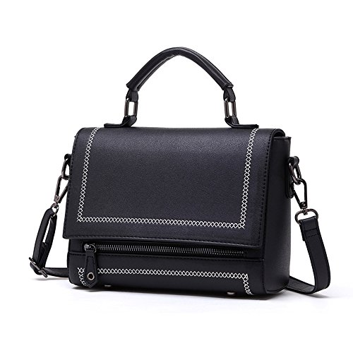 Atmospheric Bag Black Backpack Brown of Handbag Handbags Oblique Shoulder Korean Wild Fashion Version Color Summer vqdwBvA
