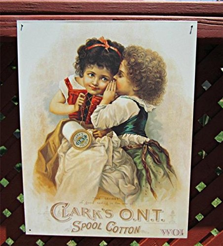 Clarks Spool Cotton Thread Company Victorian Clothing Children Advertising Sign