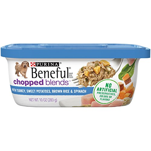Purina Beneful Wet Dog Food, Chopped Blends With Turkey - (8) 10 oz. Tubs