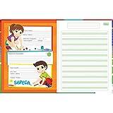 Caderno Brochura Capa Dura Pauta Verde Sapeca - 40 Folhas - Sortido (Pacote com 8 unidades)