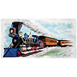 Shirts That Go Little Boys Steam Train Bath and Beach Towel