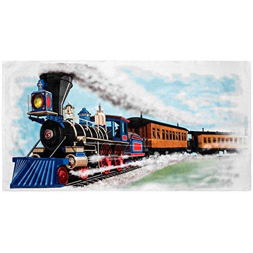 Shirts That Go Little Boys Steam Train Bath and Beach - The Engine Beach Towel Tank Thomas