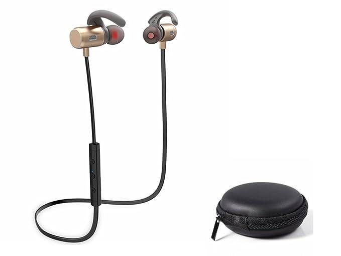 Auricular Bluetooth, impermeable, auricular inalámbrico de running, la última 4.2 Bluetooth estéreo auricular
