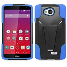 LG Tribute LS660 / Optimus F60 Case, Premium Durable Hard & Soft Rugged Shell Hybrid Protective Phone Case Cover with Built in Kickstand For LG Tribute LS660 / Optimus F60【Storm Buy】 (blue)
