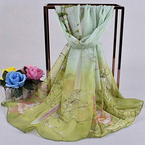En Femme Angelof Tête Foulards Écharpe Impression Vogue Army Mince Carrés Vert De Soie Hiver Chales Foulard Laine Long xF8RFH