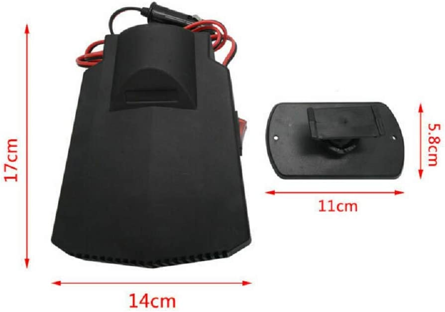 for Automobile Windscreen Car Heater 2 in 1 Portable 12V 200W High Power Fast Heating /& Cooling Fan Defrost Defogger
