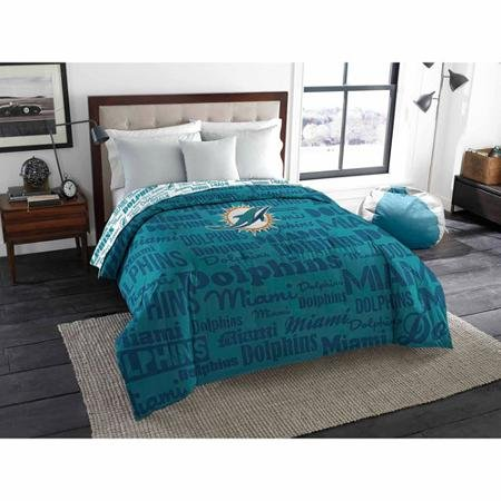 The Northwest Company NFL Miami Dolphins Anthem Twin/Full Bedding Comforter