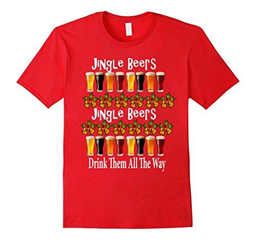 Ugly Christmas T-Shirt Jingle Beers