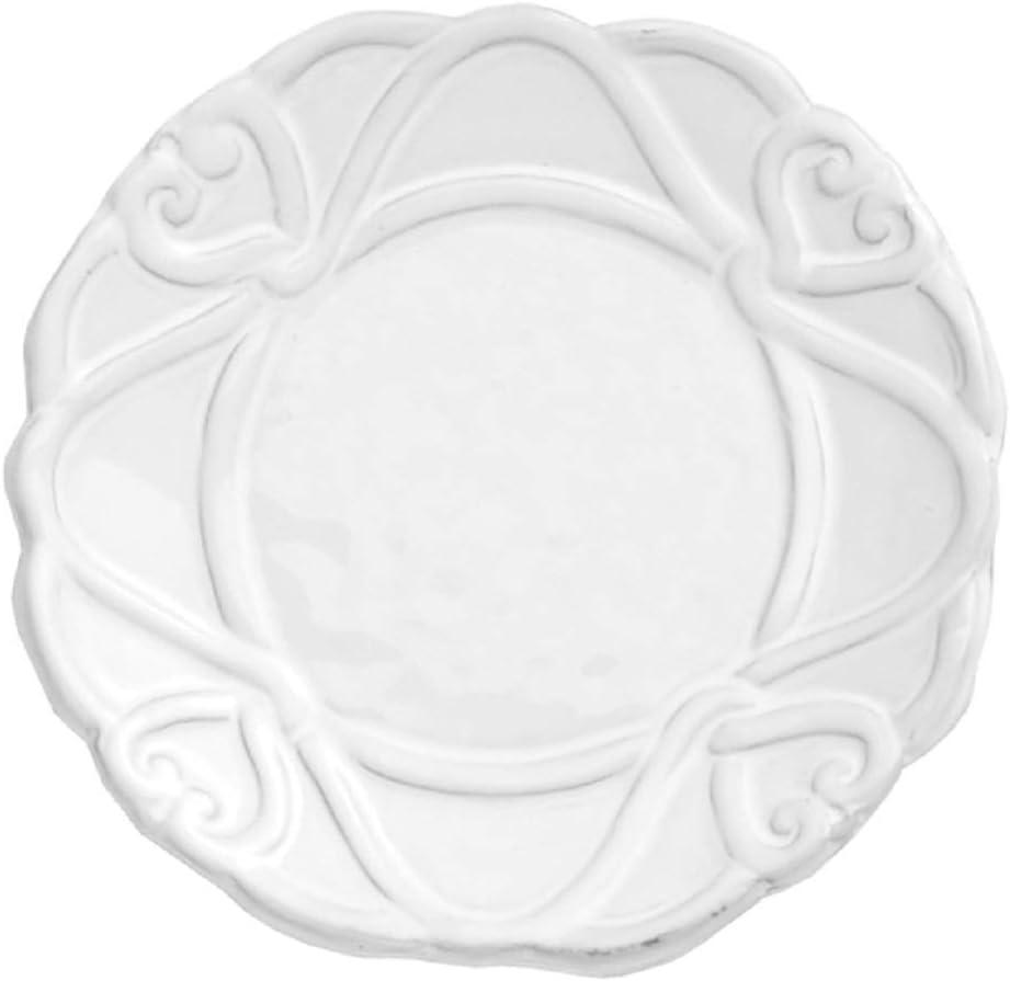 Arte Italica Bella Bianca Ribbon Bread Plate