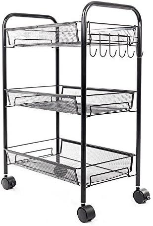 Cimiva 3-Tier Kitchen Rolling Cart