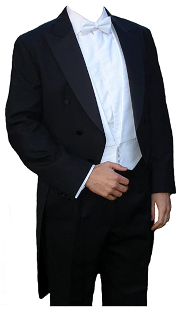 Clermont Direct Poly-Wool White Tie Tailcoat - Made in UK