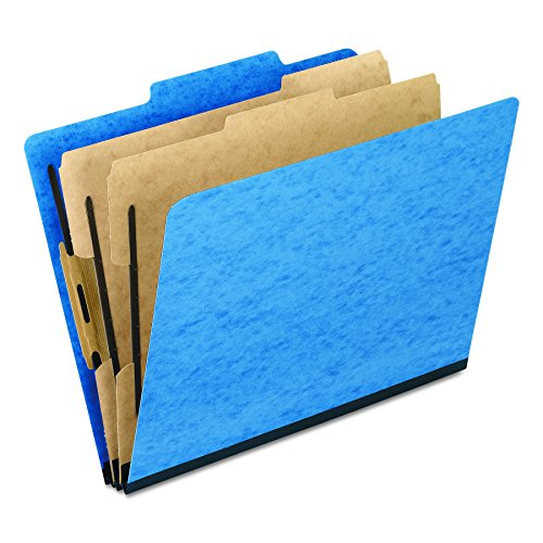 2 Pressboard Divider (Pendaflex Moisture-Resistant Color Classification Folders, Letter Size, 2 Dividers, Light Blue, 2/5 Cut, 10/BX (1257LB))