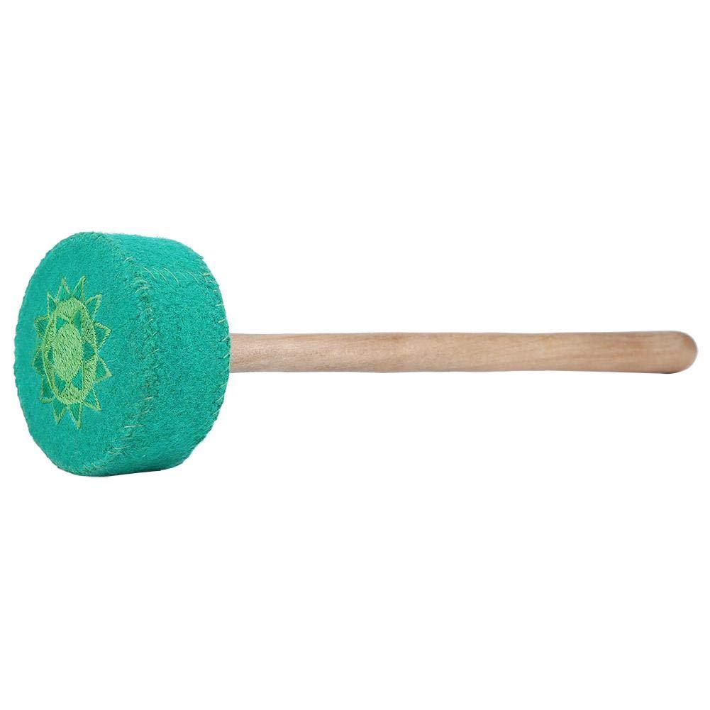 ZJchao Singing Bowl Striker, Wood Striker Tibetan Buddhism Hammered Yoga Cloth Mahogany Chakra Hammered Meditation Singing Bowl Striker 338cm/13.03.1in (Green) by ZJchao