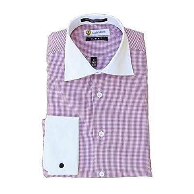 Labiyeur Men's Slim Fit Checked Dress Shirts
