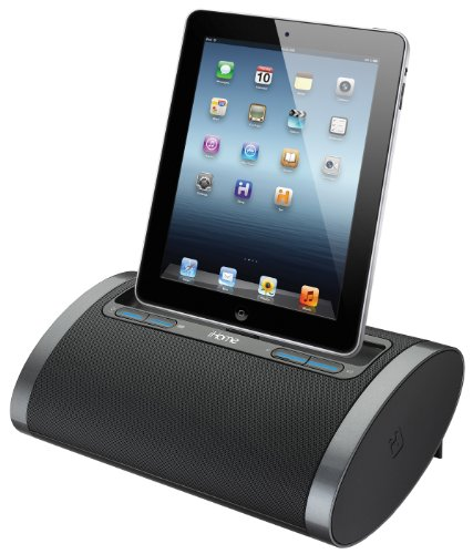iHome iDL48BC Dual Charging Portable Rechargeable Speaker with Lightning Dock and USB Charge/Play for iPad /iPod and iPhone 5/5S and 6/6Plus (Best Speaker Dock For Iphone 5s)
