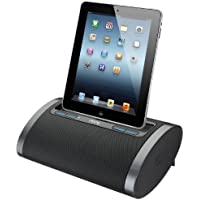 iHome iDL48BC Dual Charging Portable Rechargeable Speaker with Lightning Dock and USB Charge/Play for iPad /iPod and iPhone 5/5S and 6/6Plus