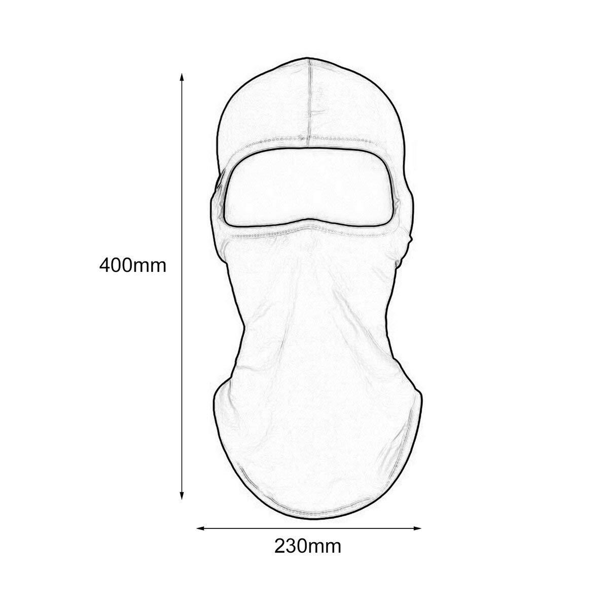 WEIWEITOE Solido a Prova di Polvere Uomo Donna Tattico Moto Ciclismo Caccia Outdoor Sci Maschera Casco Maschera a Pieno facciale Nero,