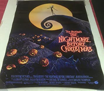 Amazon.com: NIGHTMARE BEFORE CHRISTMAS MOVIE POSTER 2 Sided ...
