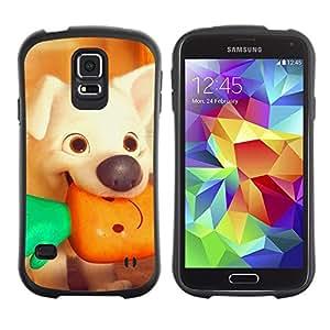 "iFace Series Tpu Silicona Carcasa Funda Case Para Samsung Galaxy S5 , ( Perrito de la historieta Vegetariana Vignette"" )"