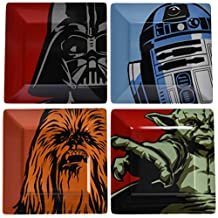 Star Wars Iconic Characters Melamine Square Plates - Set Of Four by Underground Toys